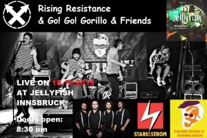 Rising Resistance & Go! Go! Gorillo & Friends at Jellyfish